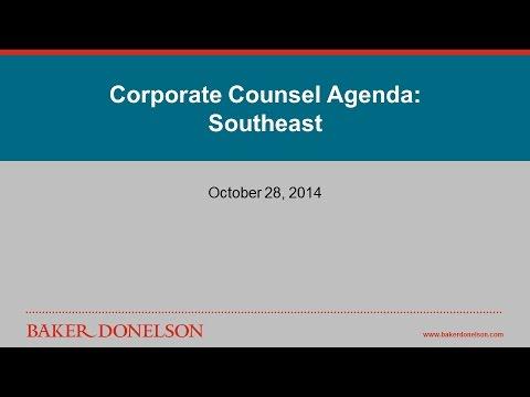 Corporate Counsel Agenda: Southeast - Webinar