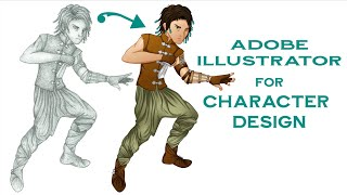 Graphic Art Tutorial #1: How I Use Adobe Illustrator to Digitize Character Designs