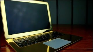 GOLD PLATED MACBOOK by Telemart | 24KT Gold Plated Products |