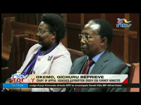 Chris Okemo and Samuel Gichuru will not be extradited to the UK for money laundering charges