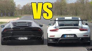 PORSCHE 911 GT2 RS vs LAMBORGHINI HURACAN 🚀🔥DRAG RACE🚀🔥