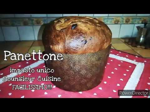 Panettone fatto in casa con impasto unico facilissimo! - mounsieur cuisine connect o bimby