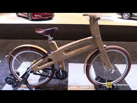 2016 Bough Bikes Wooden Bike - Walkaround - Volvo Stand 2016 Chicago Auto Show