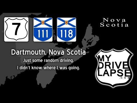 Tour of Dartmouth, Nova Scotia Dashcam Drivelapse