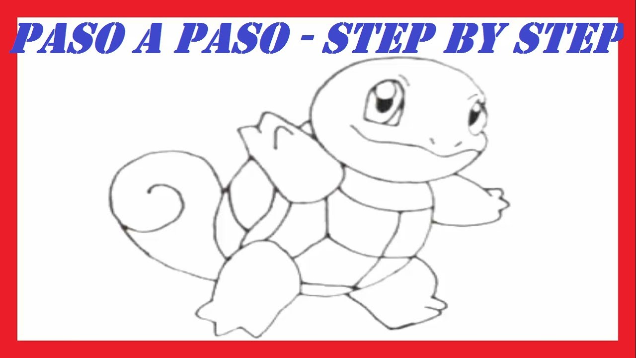 Como dibujar a Squirtle Pokmon l How to draw Squirtle Pokemon