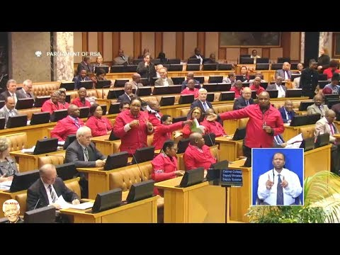 Breaking News | EFF Disrupts Gigaba's Budget Speech