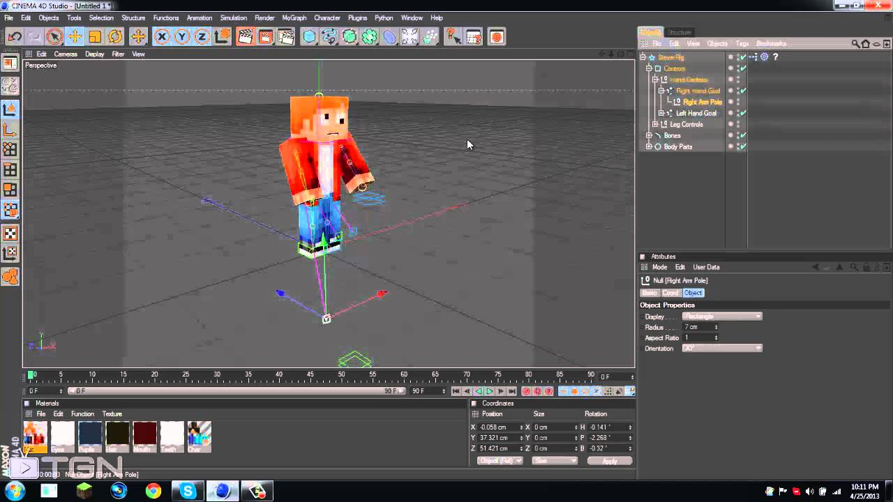 How to animate minecraft in cinema 4d e2 adding your character how to animate minecraft in cinema 4d e2 adding your character ccuart Images