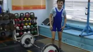 Шумихин Артур, 10 л  с вес 27 35 Толчок 26 кг на 2 р  Есть личный рекорд!