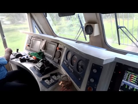 Thumbnail: [IRFCA] Inside Rajdhani Express Locomotive, Ultimate Cab Ride in WDP4D Engine