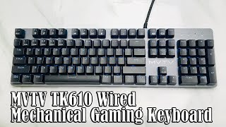 5 facts about the mechanical keyboard MVTV TK610 II Decent?