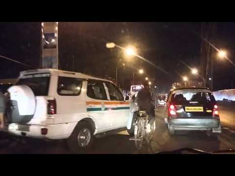 TAXI RIDE IN BOMBAY BY NIGHT - TRAFFIC - 24th september 2015
