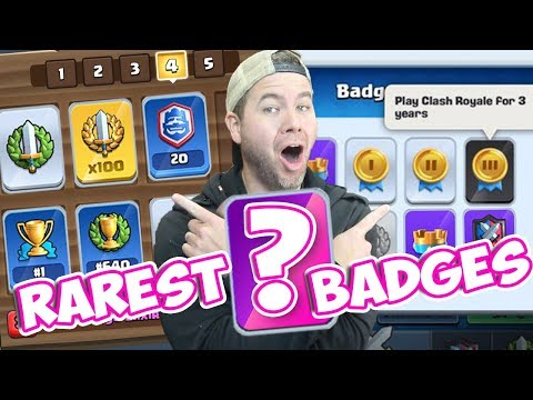 GET EVERY BADGE In CLASH ROYALE! Plus MYSTERY BADGE!