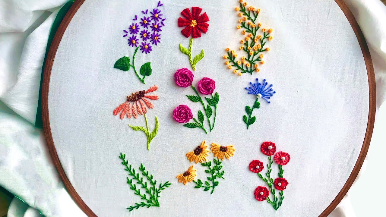 Hand Embroidery 20 Amazing Embroidery Stitches For Beginners / Stitches For  Small Flowers