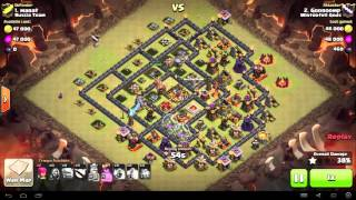 Clash of Clans - TH9 - Mass Golem - War 63 vs Russia Team - Gooroomp vs #1