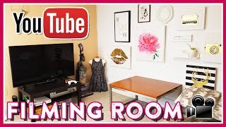 FILMING ROOM TOUR/SETUP + YOUTUBE EQUIPMENT (ON A BUDGET)