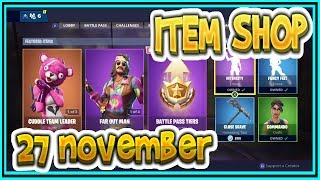 Fortnite ITEM SHOP November 27th all new SKINS and EMOTES-Playr NINE-English Fortnite EN