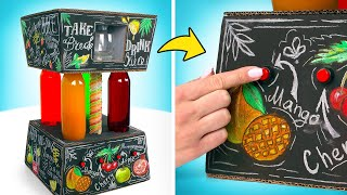 놀라운 음료수 기계로 맛있는 칵테일 만들기