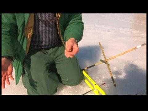 Ice fishing basics setting up polar ice fishing tip up for Ice fishing setup