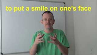 Learn English: Daily Easy English Expression 0386: to put a smile on one