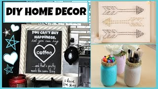 Diy Home Decor! String Art - Mason Jar Organizers & Perfect Chalkboard Lettering!
