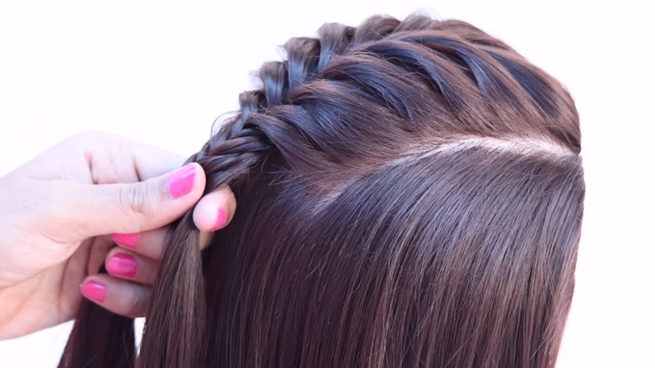 3 new unique ponytail hairstyle for jeans top | high ponytail | fishtail, dutch braid hairstyle