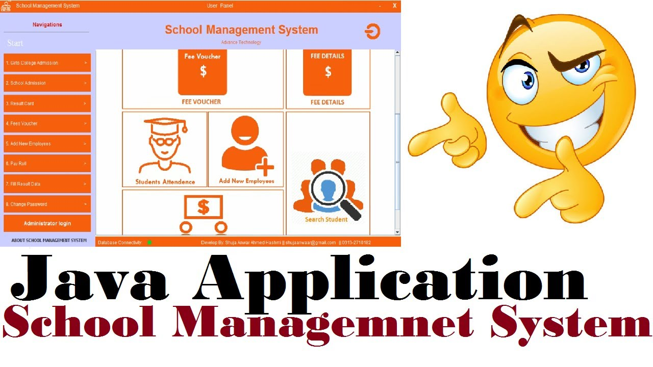 BEST JAVA APPLICATION SUCH AS SCHOOL MANAGEMENT SYSTEM - USING SQL SERVER  2012