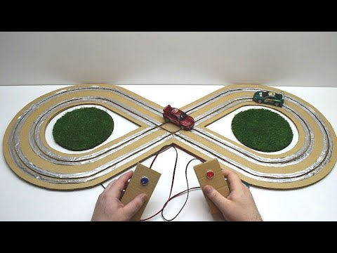 How to make a track for a machine made of cardboard