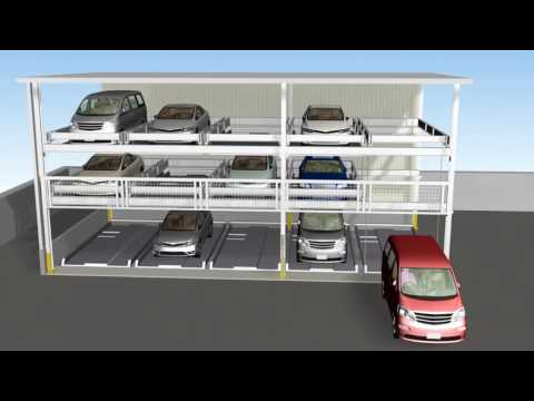 Multi Level Mechanical Car Parking - Puzzle Type