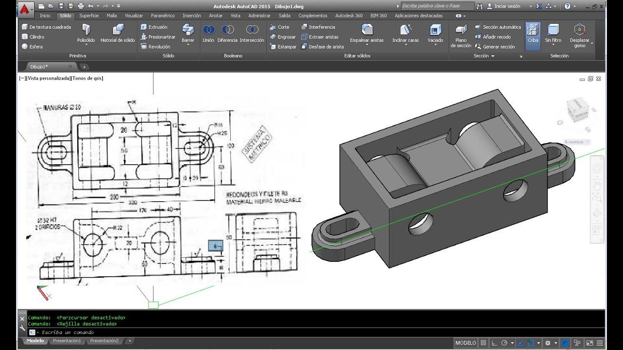 Como hacer un dibujo 3d a partir de un plano en autocad for Como crear un plano