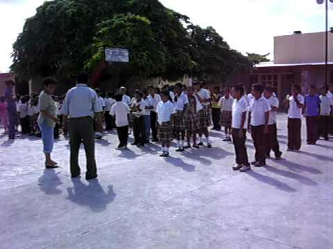 Progresso, Mexico elementary school children singing