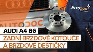 Montáž přední a zadní Brzdové Destičky AUDI A4 (8E2, B6): video zdarma