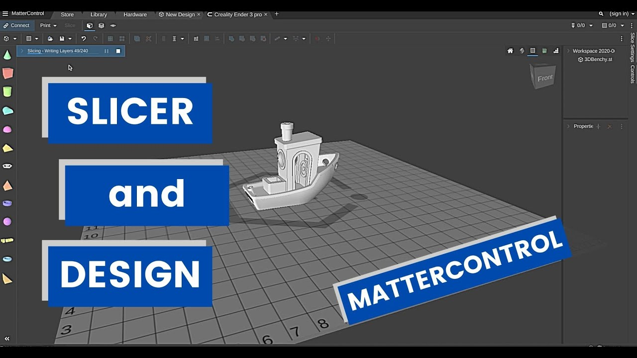 MatterControl - Slicing and designing - The ultimate 3D printer Control software?