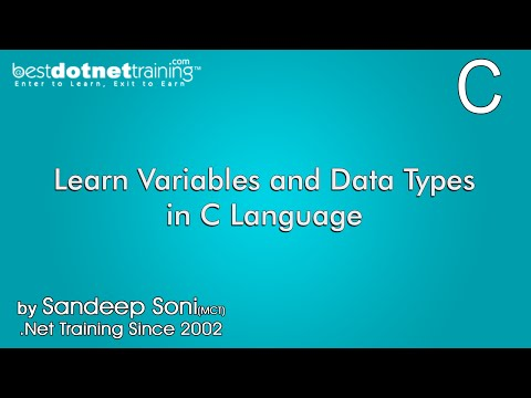 Learn Variables and Data Types in C Language - C Programming Training