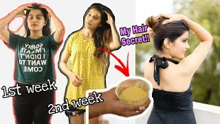 Insane Hair Growth** My Hair Secret 🙊 (100% Honest ) Try this Once a Week   Super Style Tips
