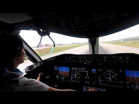 Boeing 787-8 - Departing Montego Bay - Cockpit View