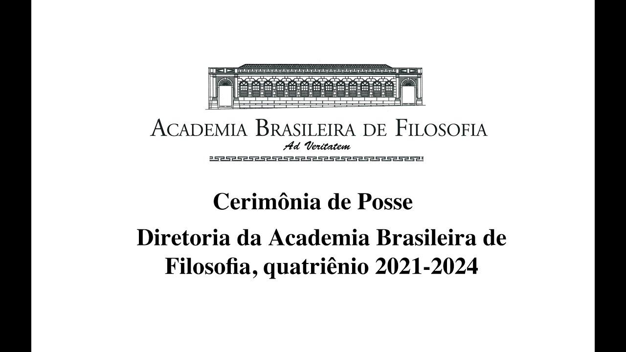 Posse da nova diretoria da Academia Brasileira de Filosofia