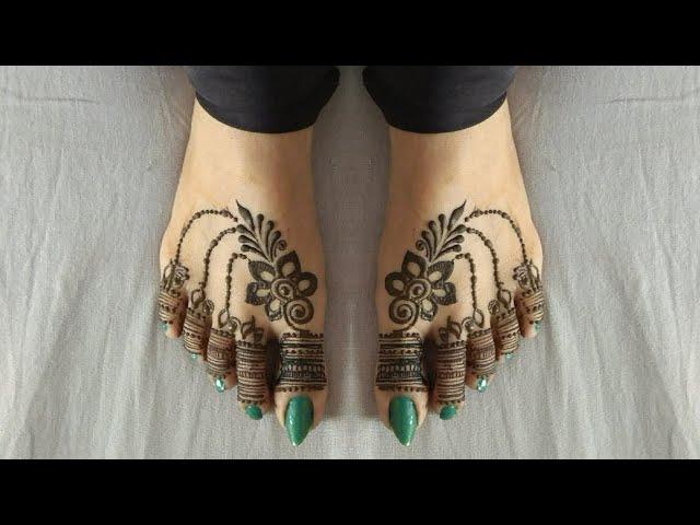 Leg Mehndi Design ! Feet Mehndi Design  ! Bridal Leg Mehendi Design ! Foot Mehandi Design ! #21