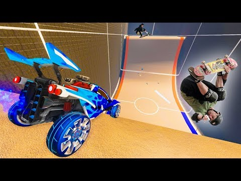 WELCOME TO THE NEW ROCKET LEAGUE HALF PIPE MAP!