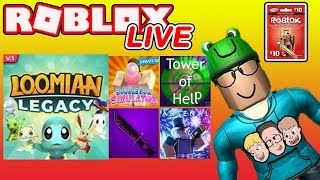 Roblox LIVE with Schlamaddy | Loomian Legacy & More | Robux Giveaway | Family Friendly