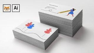 Как сделать визитку в Adobe Illustrator и подготовить ее к печати. Основные технические требования.