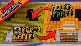 Minecraft | PUMPKIN & MELON FARMS | Foxy's Bedrock Survival [39]