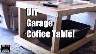 Homemade Roll-around Garage Coffee Table