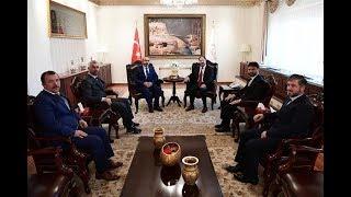 Diyanet İşleri Başkanı Erbaş, 15 Temmuz'da yaralanan Diyanet personelini kabul etti 2017 Video