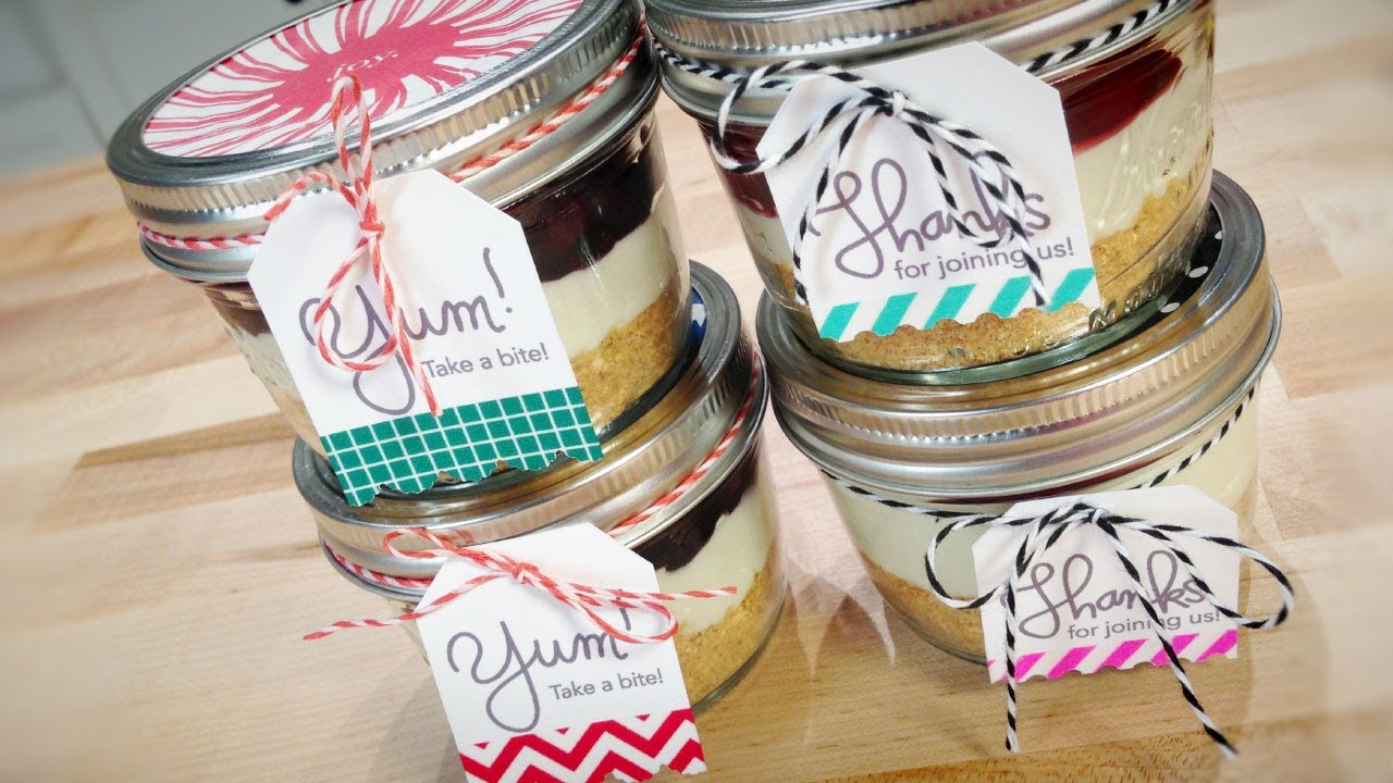 Decorating No Bake Cheesecake In A Jar With Jenn Youtube