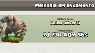CLASH OF CLANS- UPANDO O GOLEM PARA O LEVEL 3