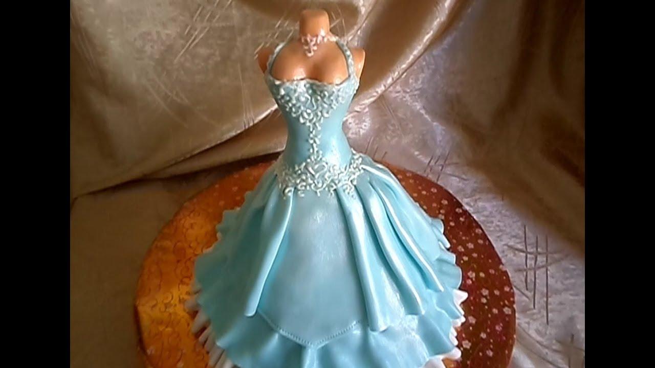 Из чего сделать платье на торт