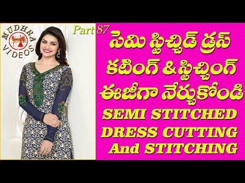 Semi stitched dress cutting and stitching # DIY # part 87
