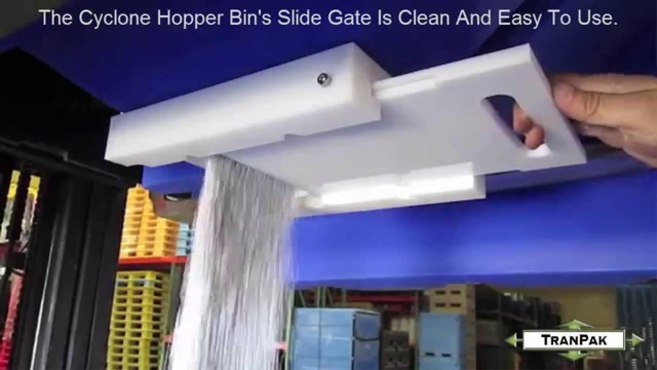 Slide Gate Control - Cyclone Hopper Bin - TranPak