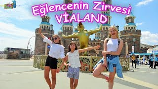 EN BÜYÜK LUNAPARK VIALAND Viking 360 Adalet Kulesi King Kong Çılgın Nehir - Eğlenceli Çocuk Videosu