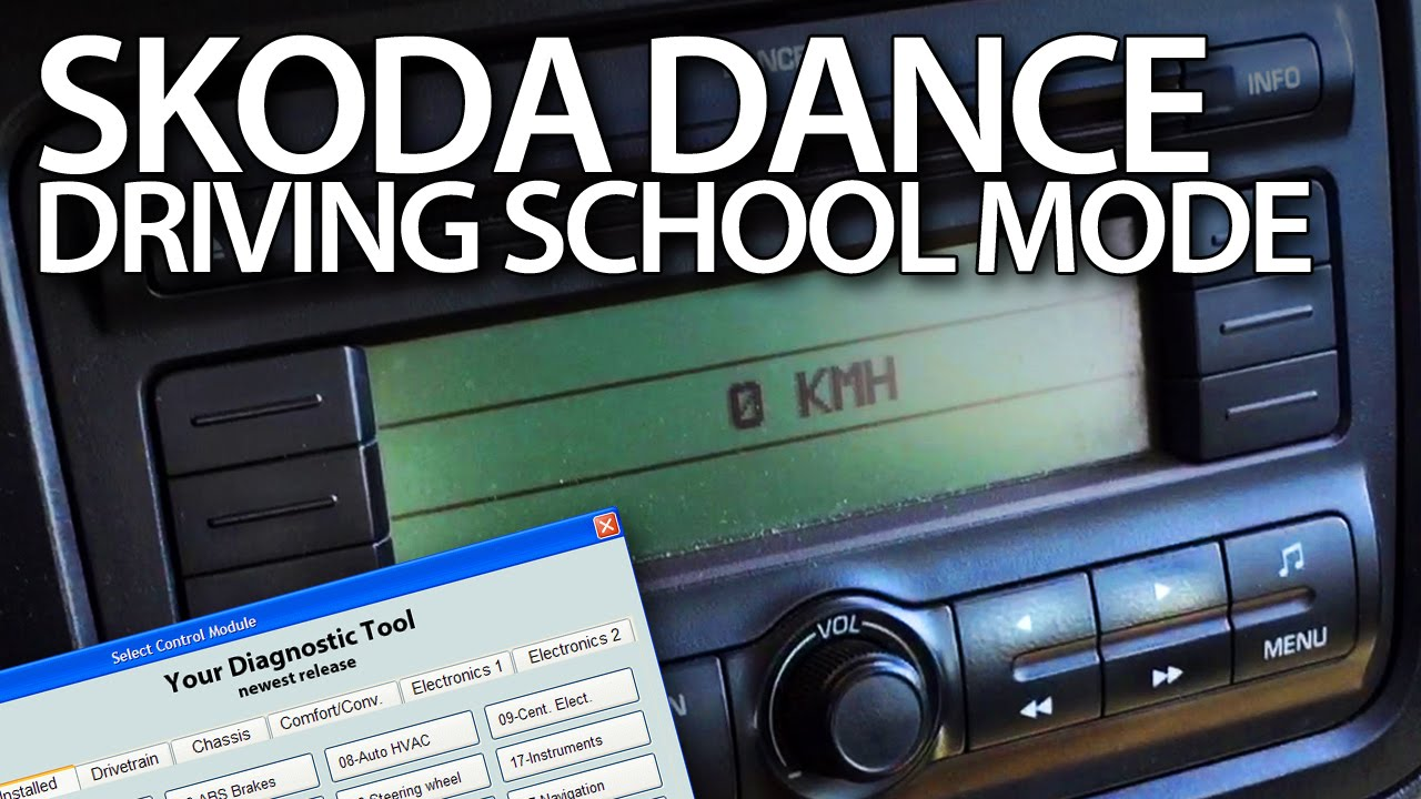 How To Enable Driving School Mode In Skoda Dance Radio Fabia Roomster Yeti Vcds Driving School Skoda Driving Instructor